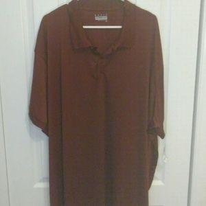 Basic editions maroon polo shirt